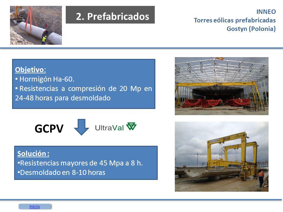 GCPV 2. Prefabricados Objetivo: Hormigón Ha-60.