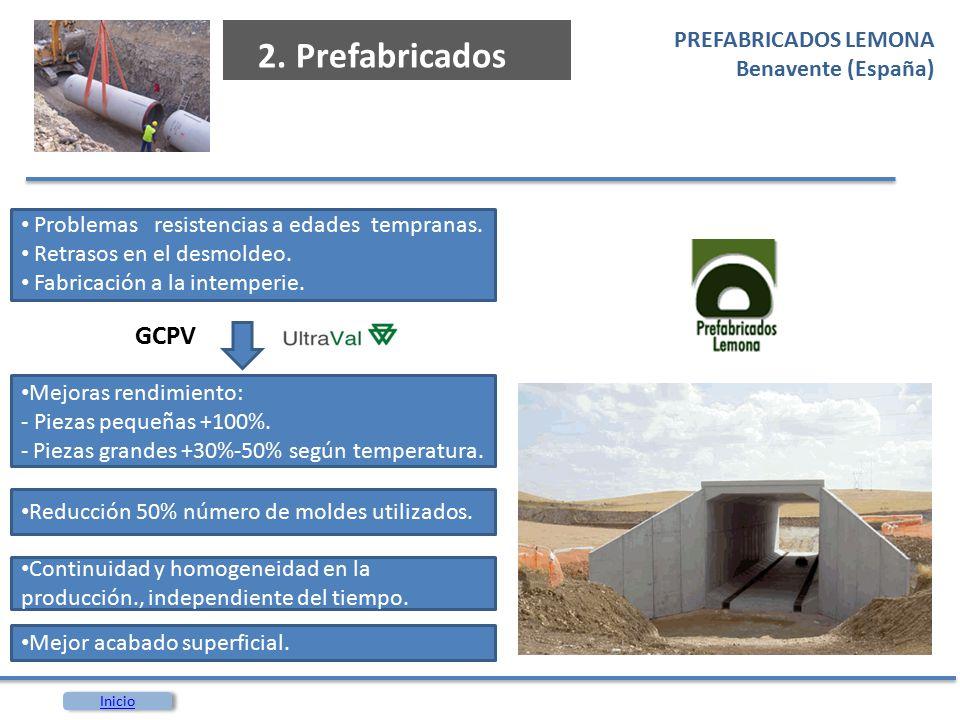 2. Prefabricados GCPV PREFABRICADOS LEMONA Benavente (España)