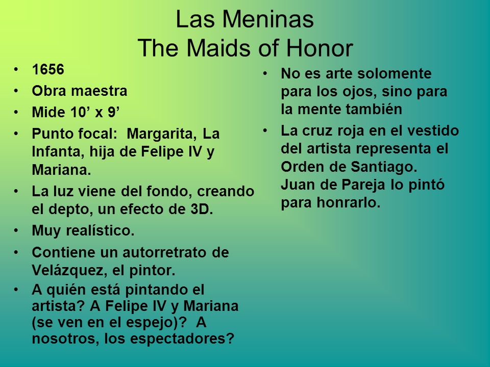 Las Meninas The Maids of Honor