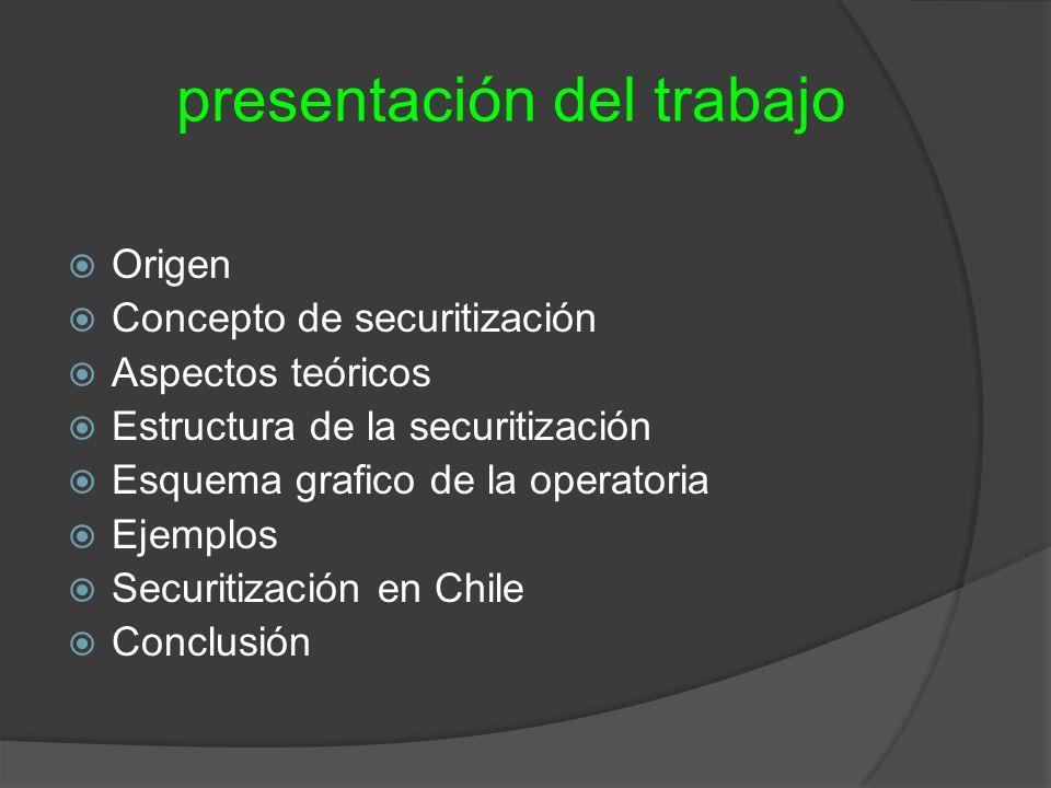 presentación del trabajo