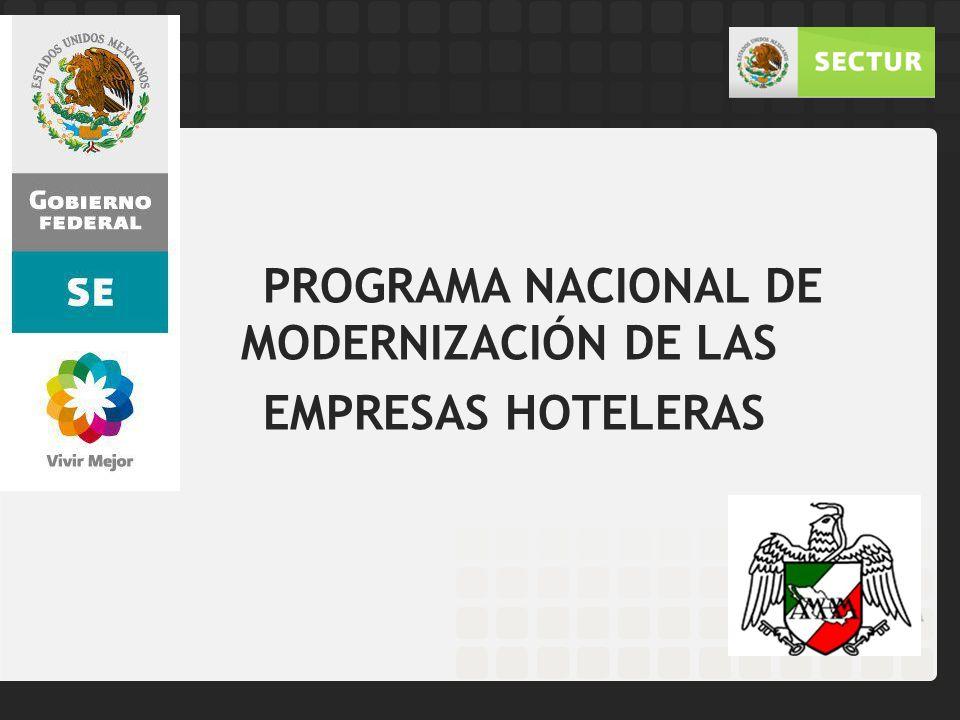 PROGRAMA NACIONAL DE MODERNIZACIÓN DE LAS EMPRESAS HOTELERAS