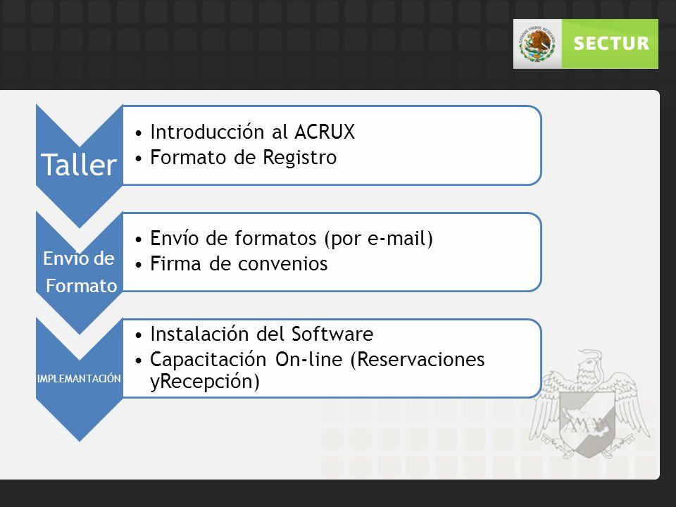 Taller Envío de Formato Introducción al ACRUX Formato de Registro