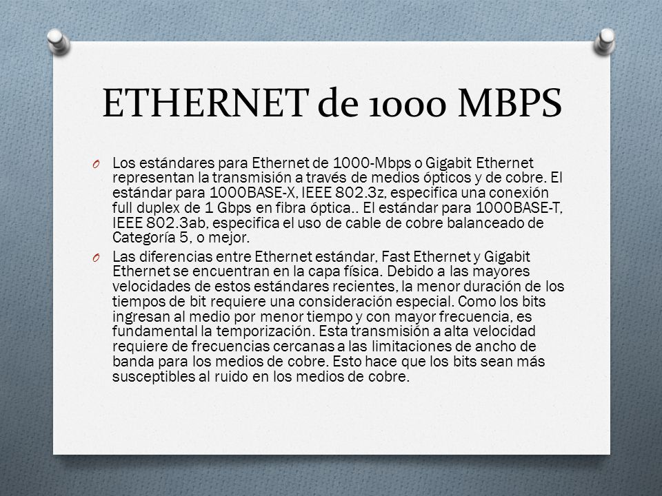 ETHERNET de 1000 MBPS