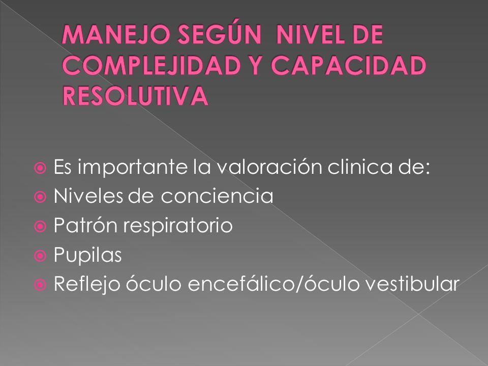 MANEJO SEGÚN NIVEL DE COMPLEJIDAD Y CAPACIDAD RESOLUTIVA
