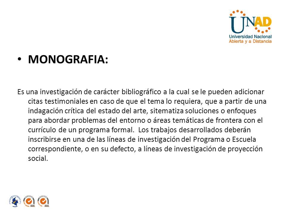 MONOGRAFIA: