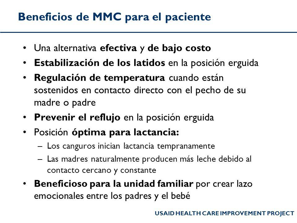 Beneficios de MMC para el paciente