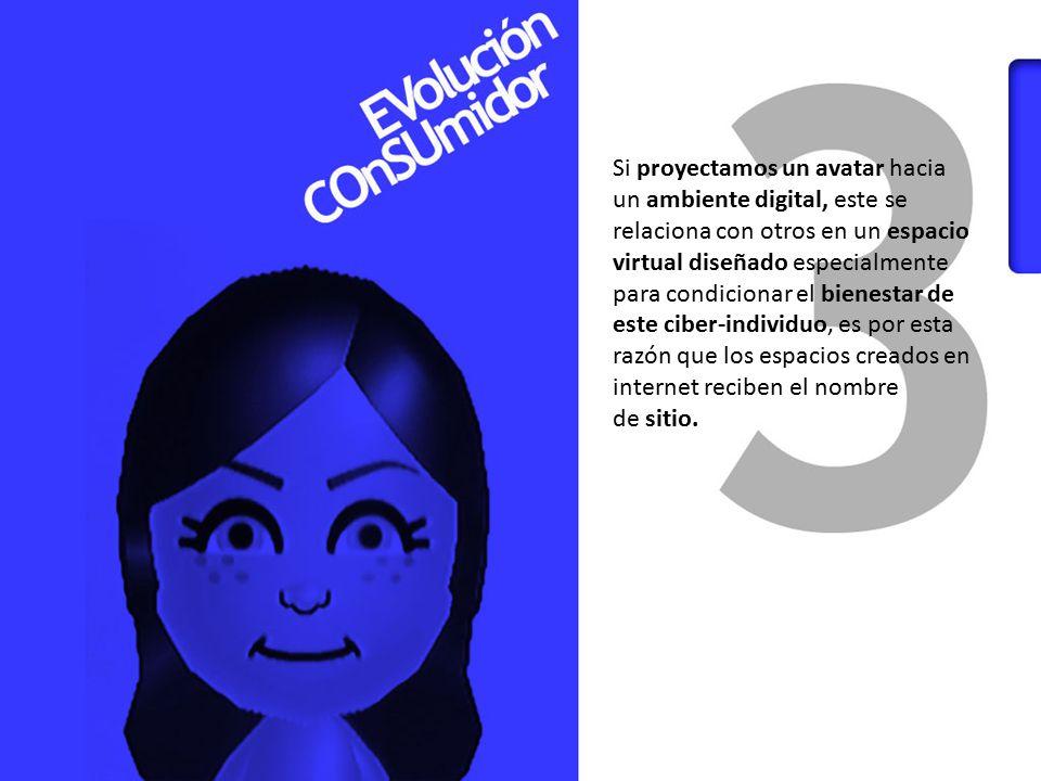 Si proyectamos un avatar hacia un ambiente digital, este se
