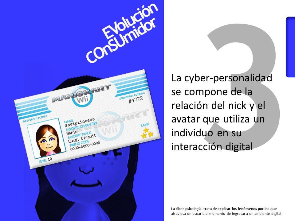 La cyber-personalidad se compone de la relación del nick y el avatar que utiliza un individuo en su interacción digital