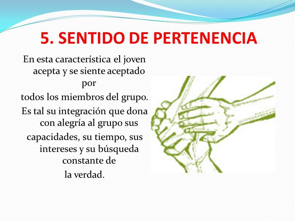 5. SENTIDO DE PERTENENCIA