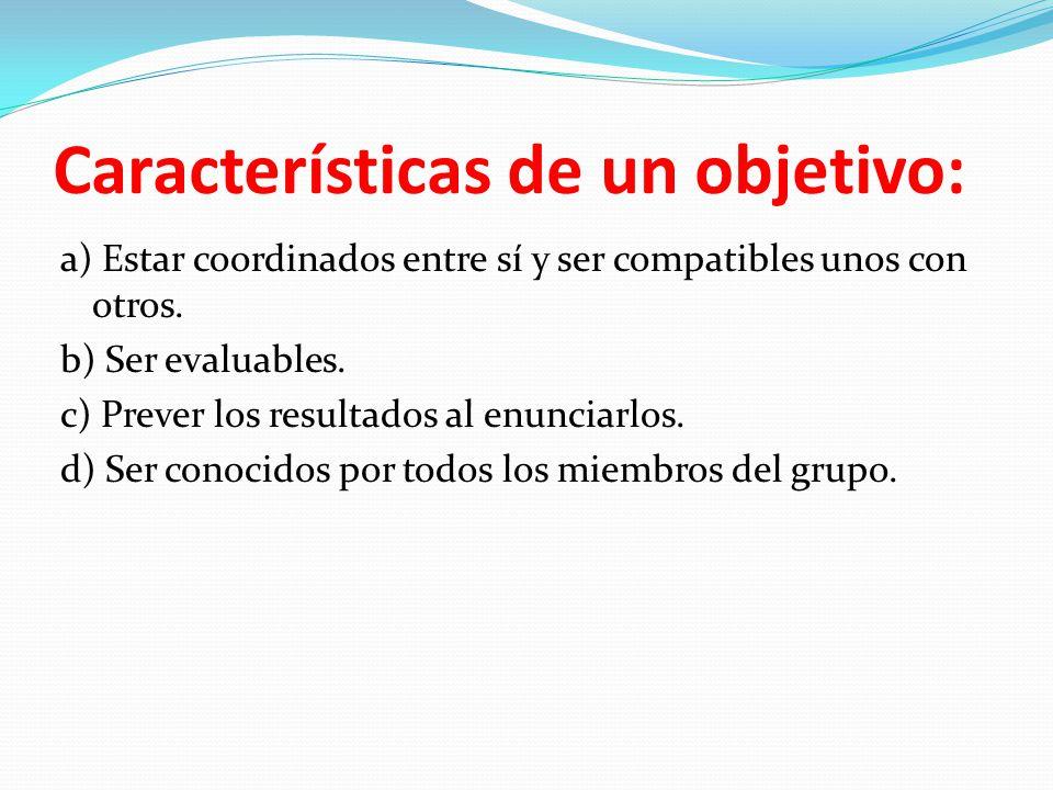 Características de un objetivo: