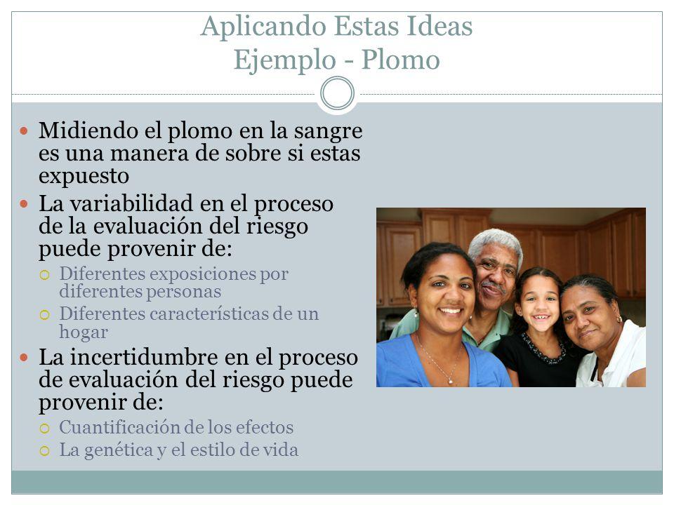 Aplicando Estas Ideas Ejemplo - Plomo