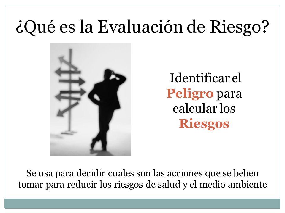 ¿Qué es la Evaluación de Riesgo