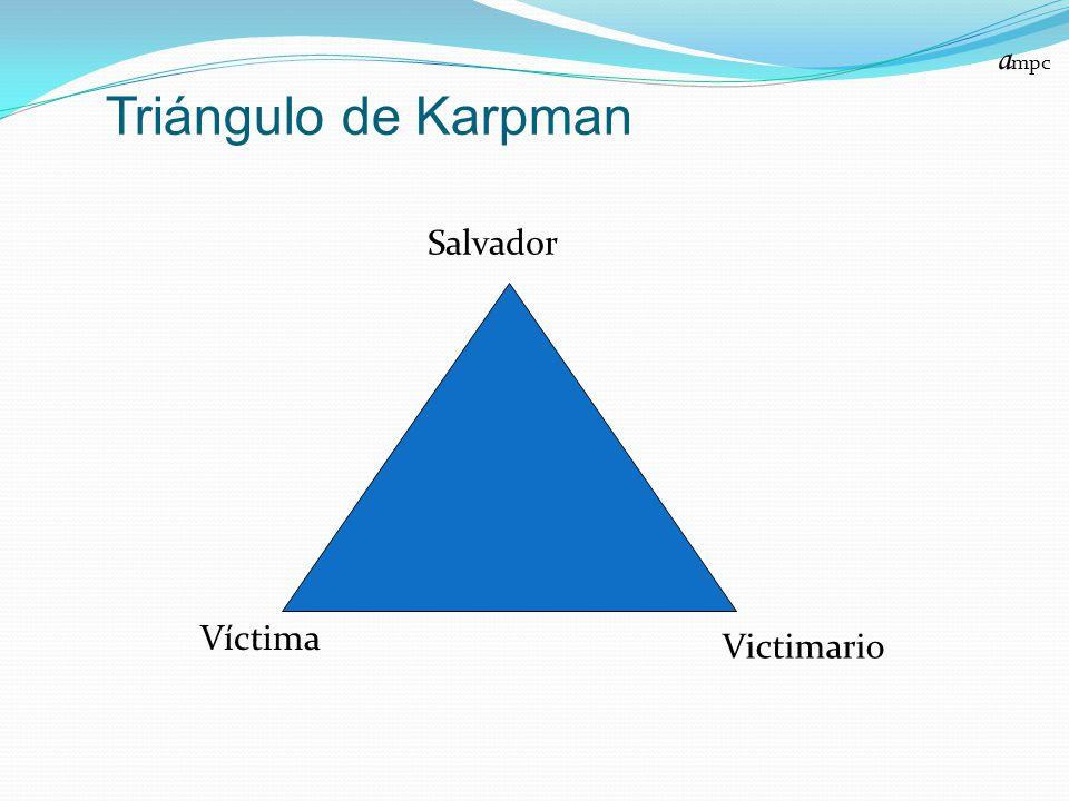 ampc Triángulo de Karpman Salvador Víctima Victimario