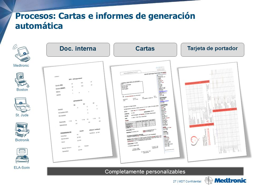 Procesos: Cartas e informes de generación automática