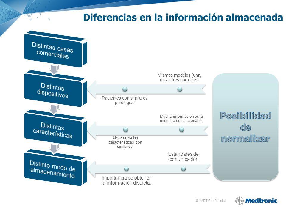 Diferencias en la información almacenada