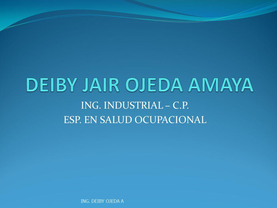 ING. INDUSTRIAL – C.P. ESP. EN SALUD OCUPACIONAL