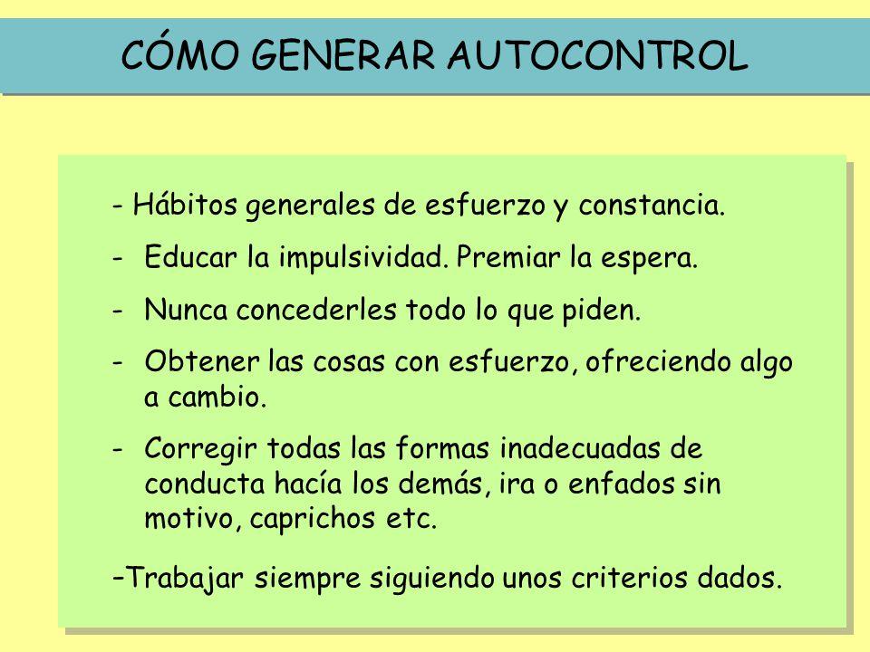CÓMO GENERAR AUTOCONTROL