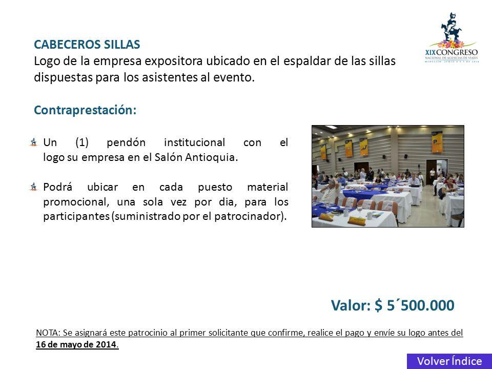 Valor: $ 5´500.000 CABECEROS SILLAS