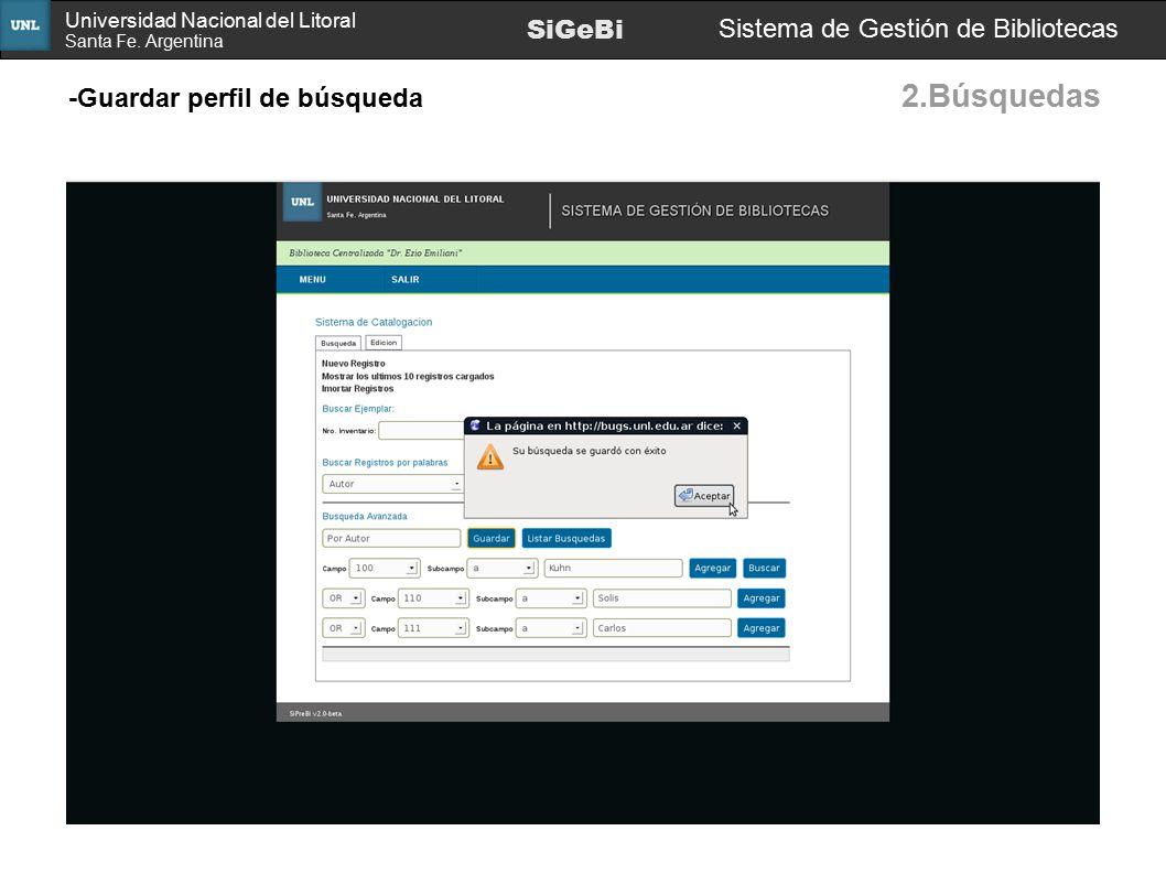 2.Búsquedas SiGeBi Sistema de Gestión de Bibliotecas
