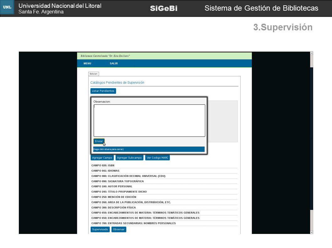 3.Supervisión SiGeBi Sistema de Gestión de Bibliotecas