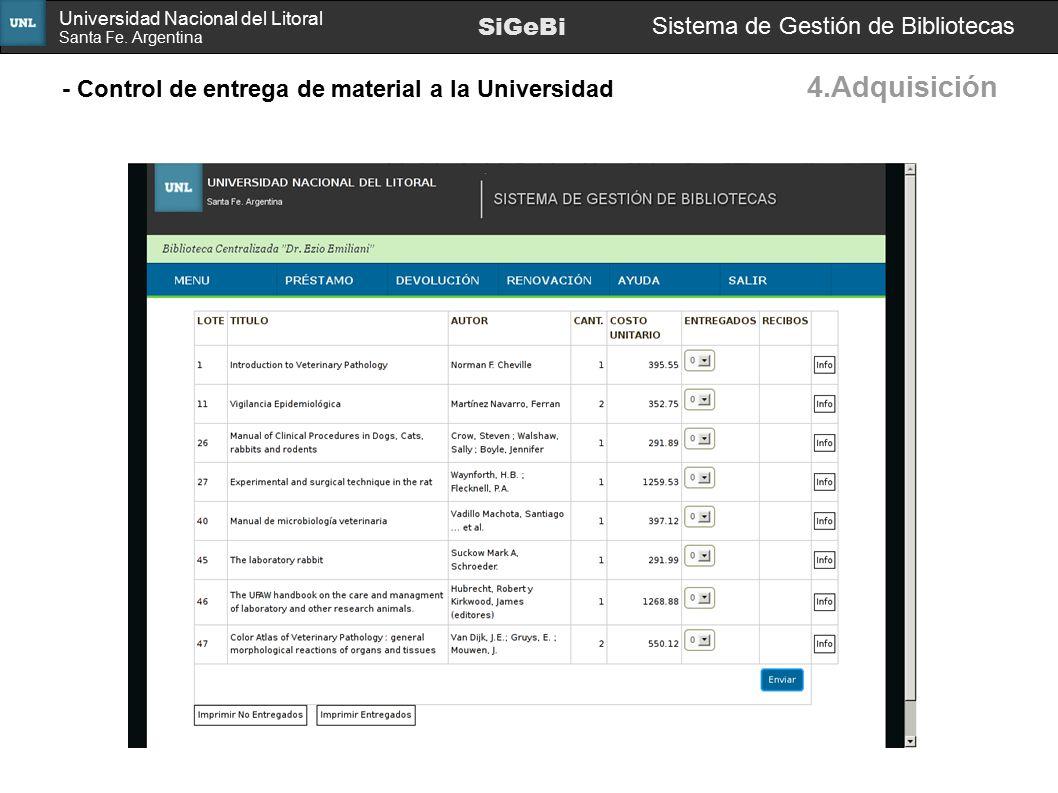 4.Adquisición SiGeBi Sistema de Gestión de Bibliotecas