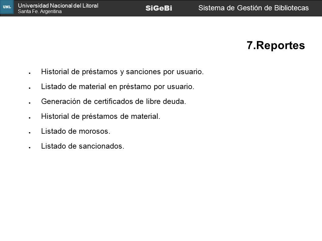 7.Reportes Historial de préstamos y sanciones por usuario.