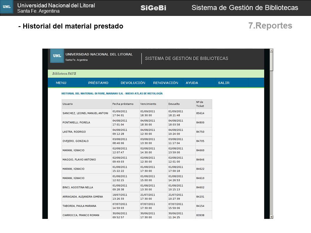 7.Reportes SiGeBi Sistema de Gestión de Bibliotecas