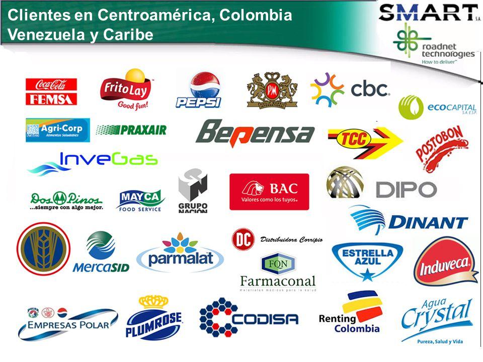 Clientes en Centroamérica, Colombia Venezuela y Caribe