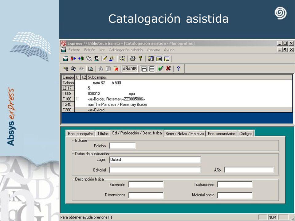 Catalogación asistida