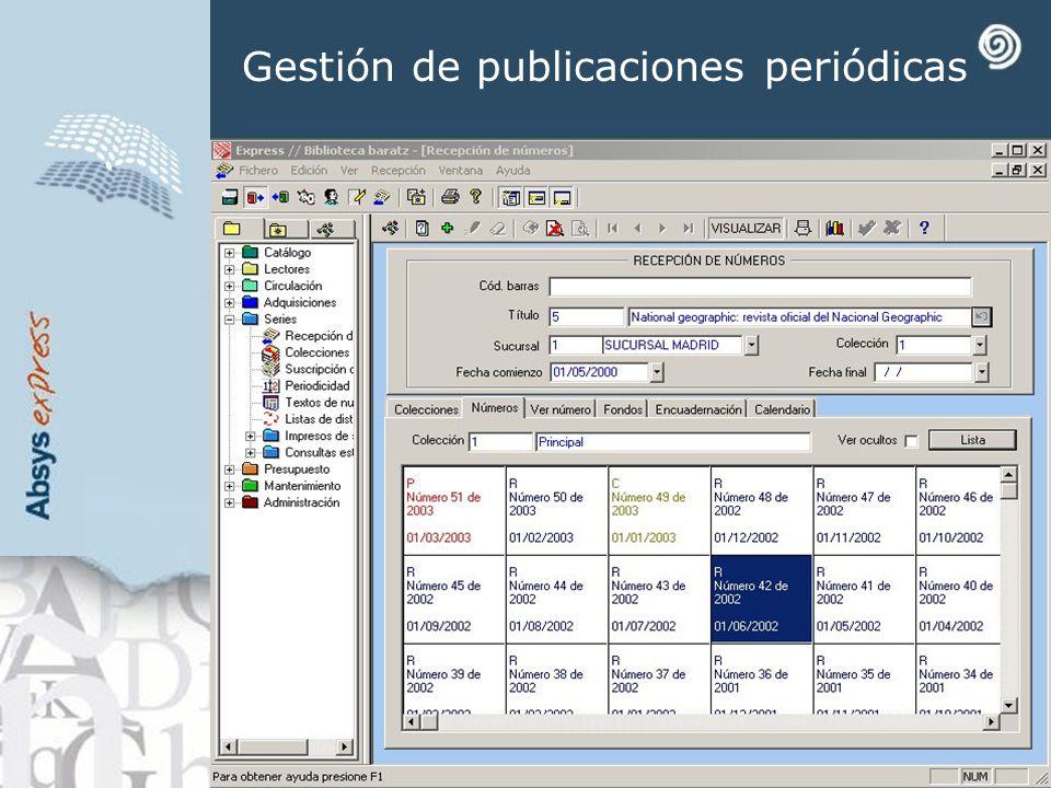 Gestión de publicaciones periódicas