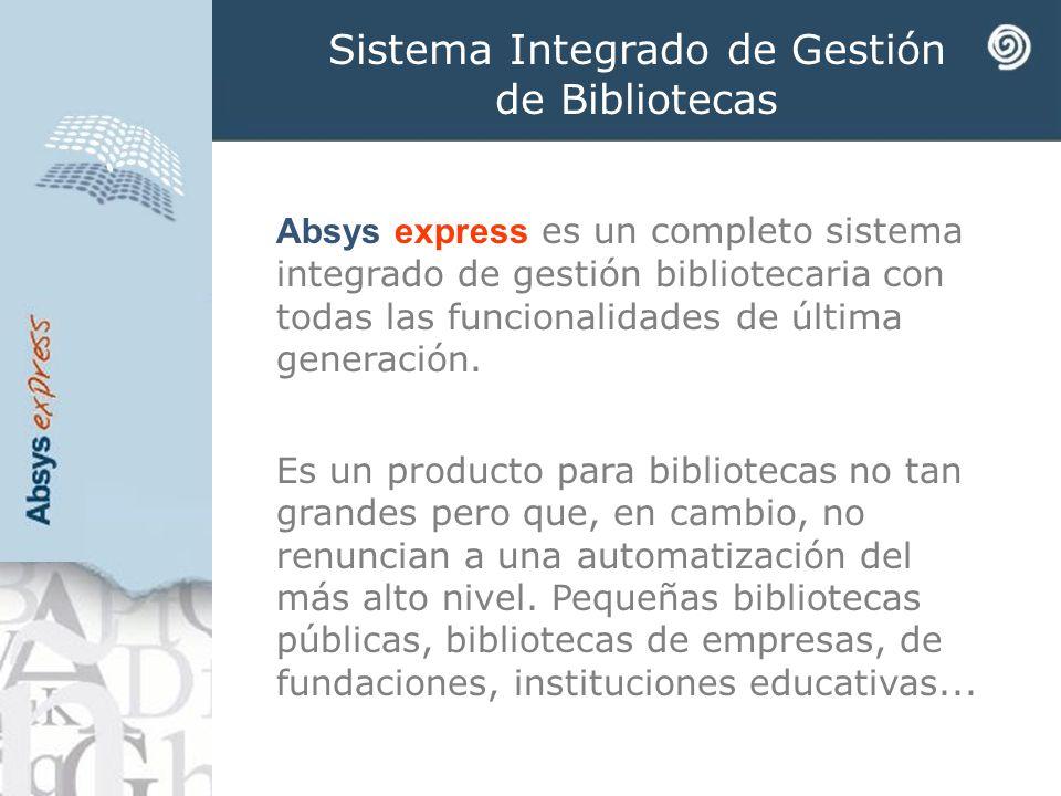 Sistema Integrado de Gestión de Bibliotecas