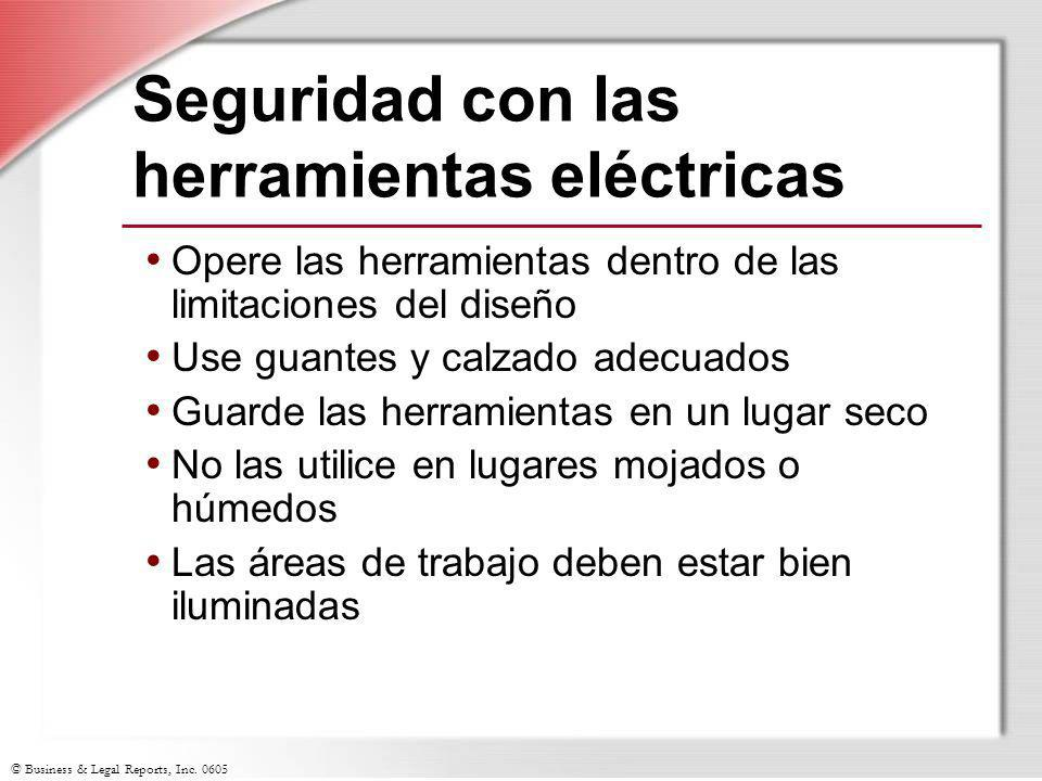 Seguridad con las herramientas eléctricas