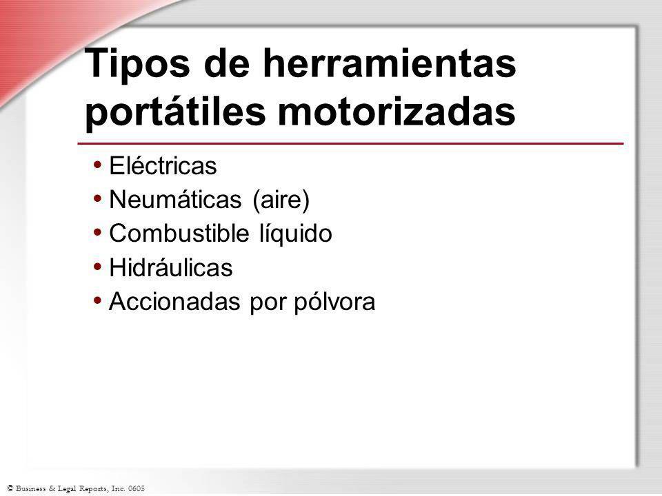 Tipos de herramientas portátiles motorizadas