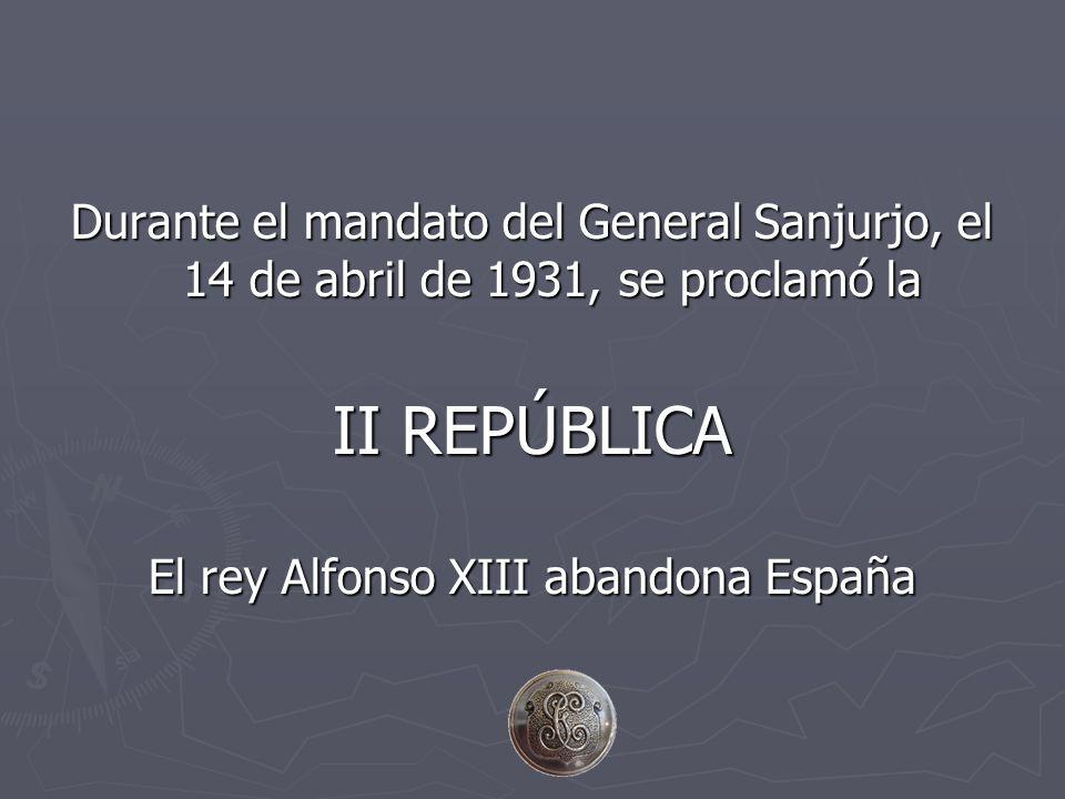 El rey Alfonso XIII abandona España