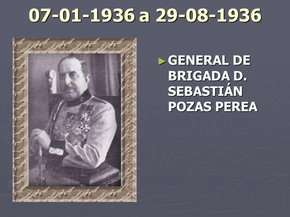 07-01-1936 a 29-08-1936 GENERAL DE BRIGADA D. SEBASTIÁN POZAS PEREA