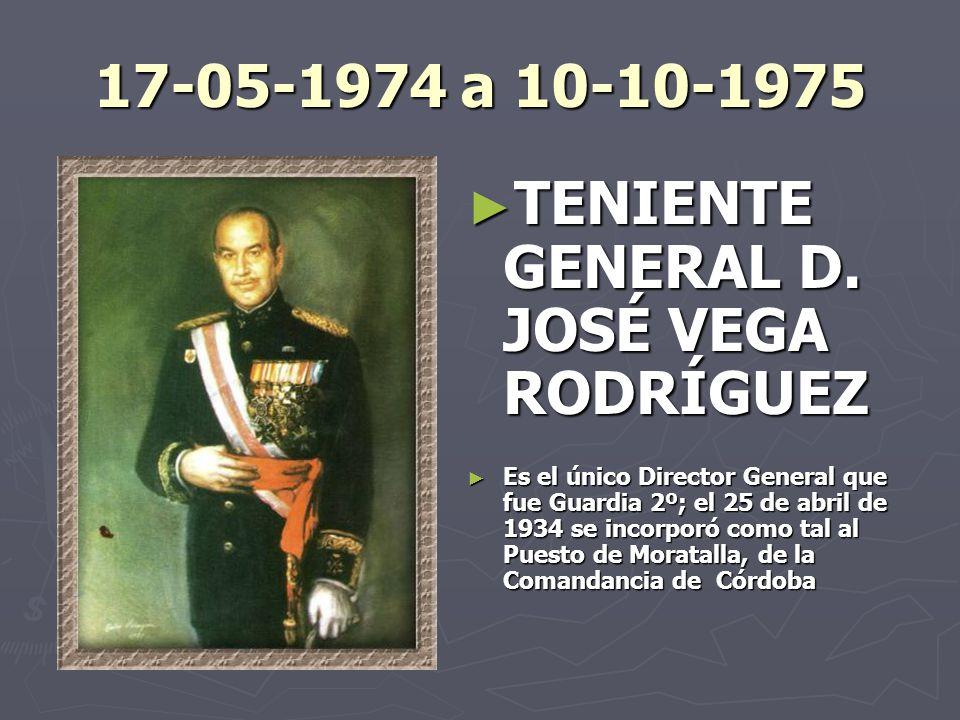 TENIENTE GENERAL D. JOSÉ VEGA RODRÍGUEZ
