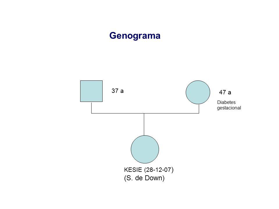 Genograma 37 a 47 a Diabetes gestacional KESIE (28-12-07) (S. de Down)