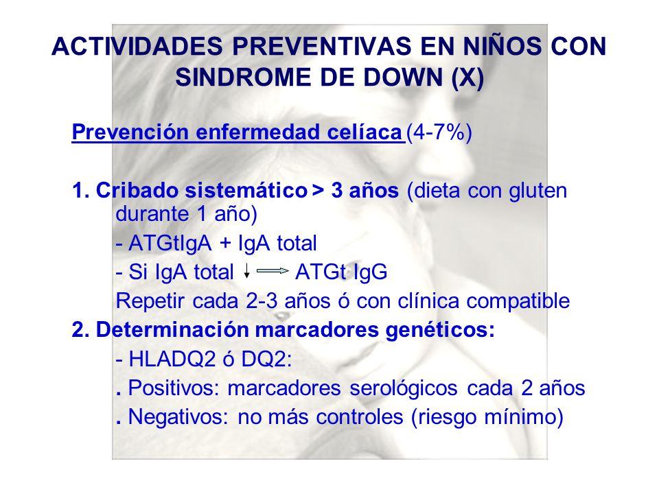 ACTIVIDADES PREVENTIVAS EN NIÑOS CON SINDROME DE DOWN (X)