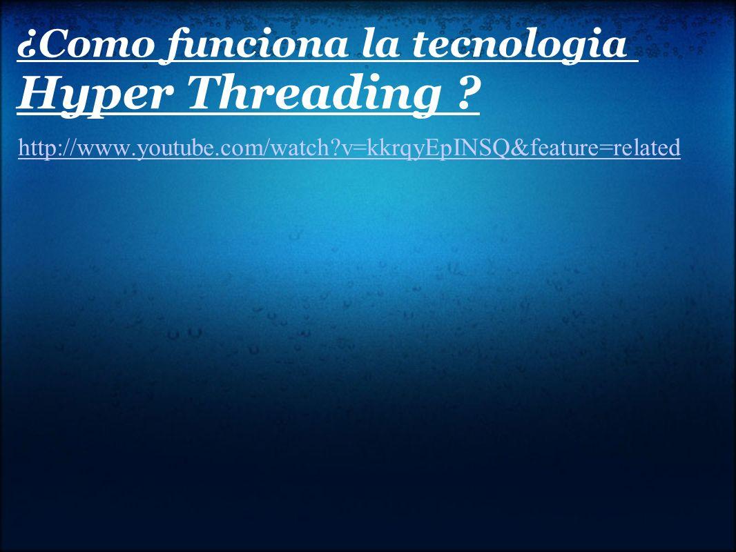 ¿Como funciona la tecnologia Hyper Threading