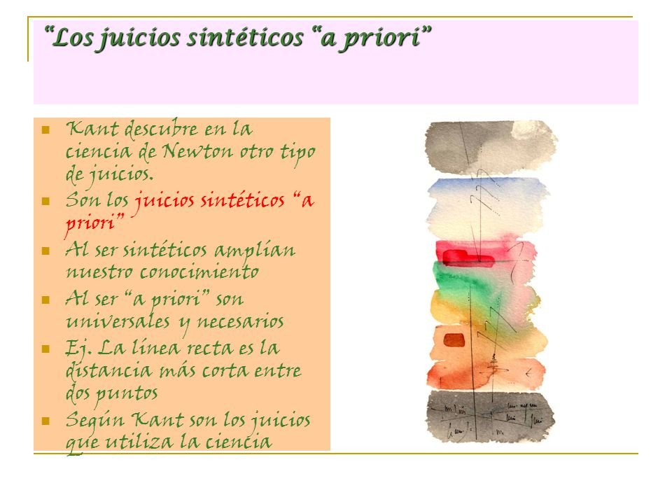 Los juicios sintéticos a priori