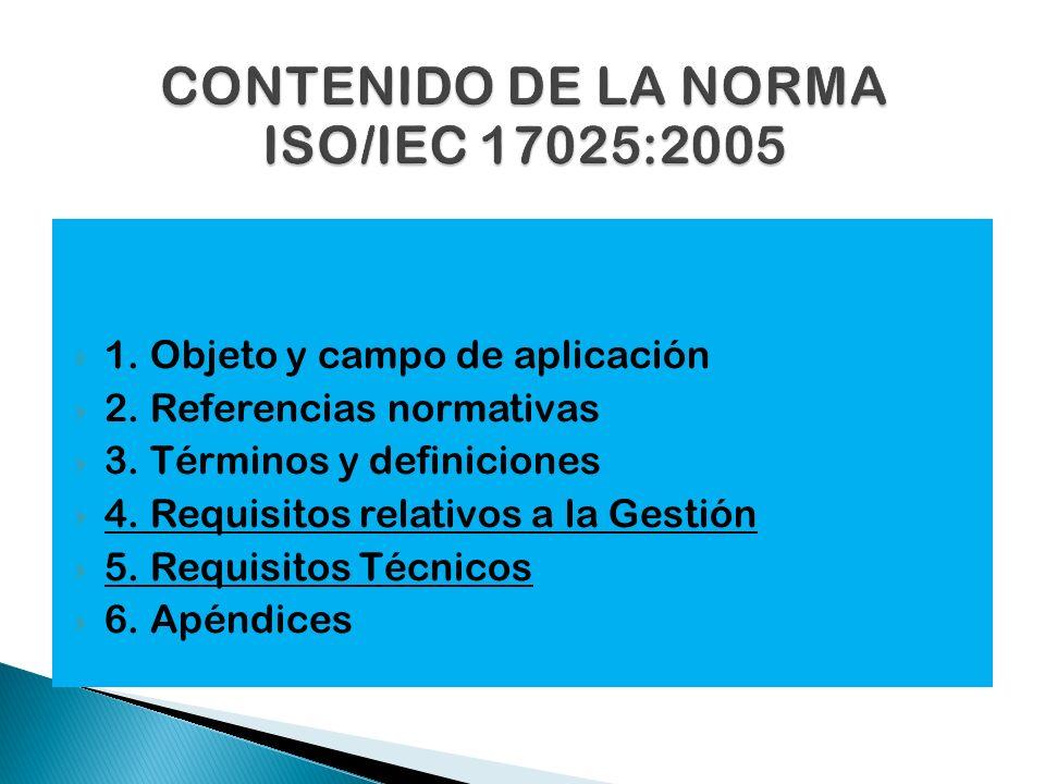 CONTENIDO DE LA NORMA ISO/IEC 17025:2005