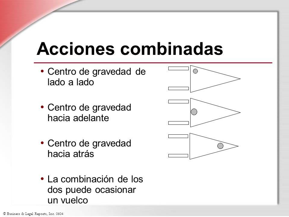 Acciones combinadas Centro de gravedad de lado a lado