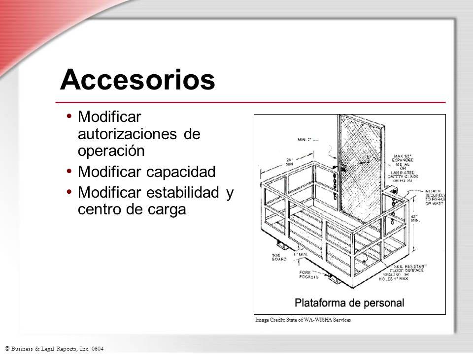 Accesorios Modificar autorizaciones de operación Modificar capacidad
