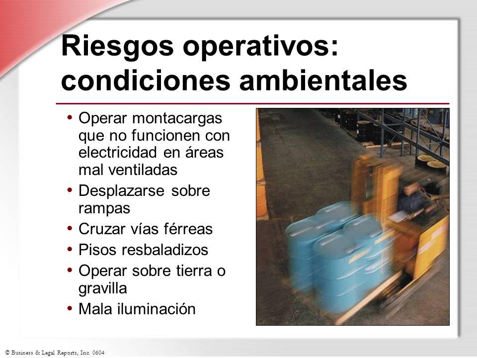 Riesgos operativos: condiciones ambientales