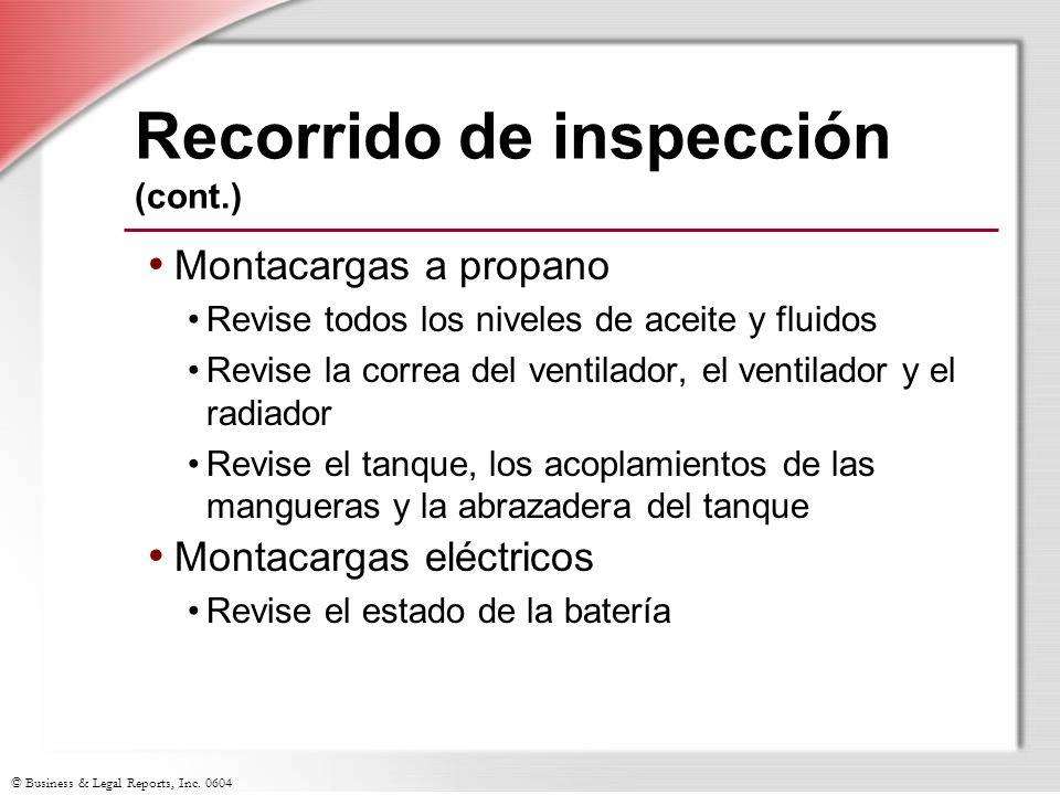 Recorrido de inspección (cont.)