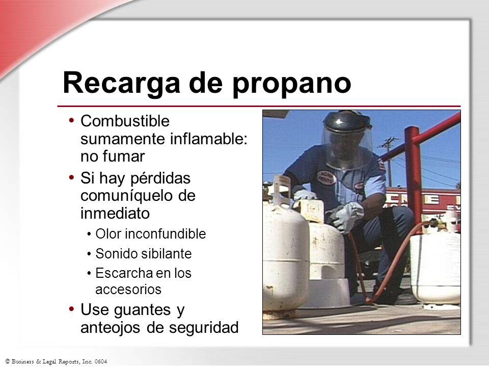 Recarga de propano Combustible sumamente inflamable: no fumar