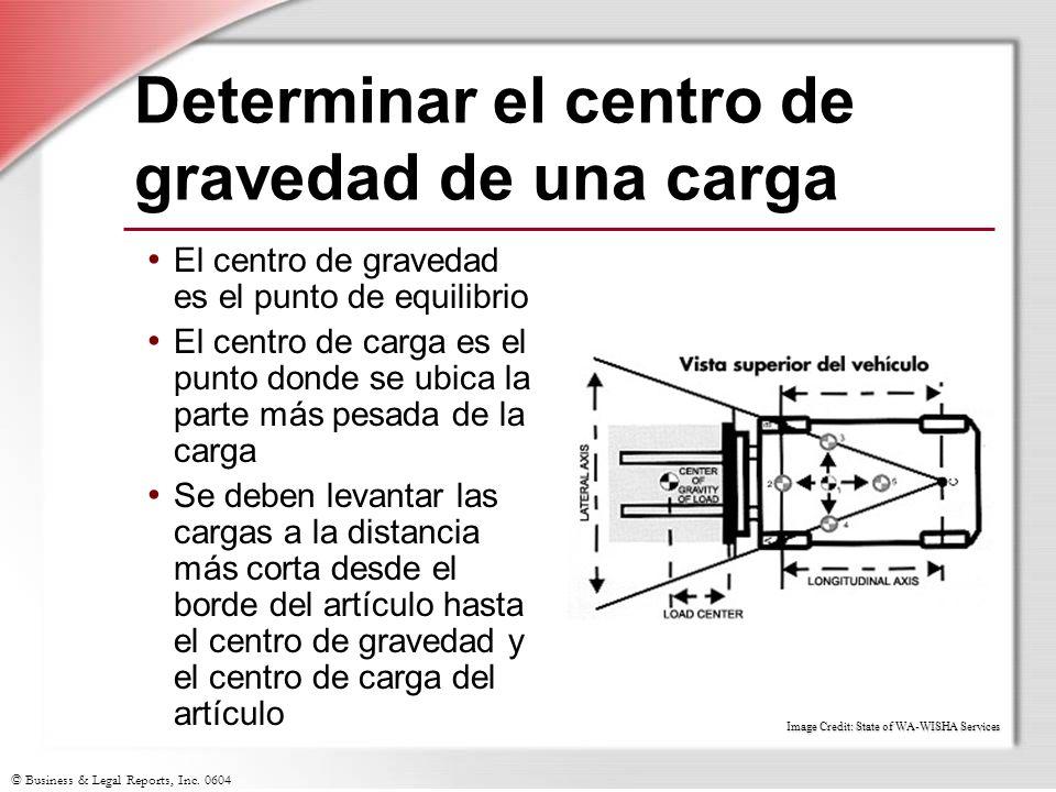Determinar el centro de gravedad de una carga
