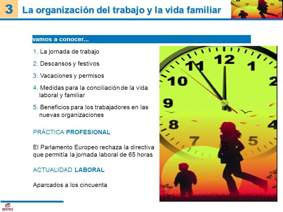 La organización del trabajo y la vida familiar