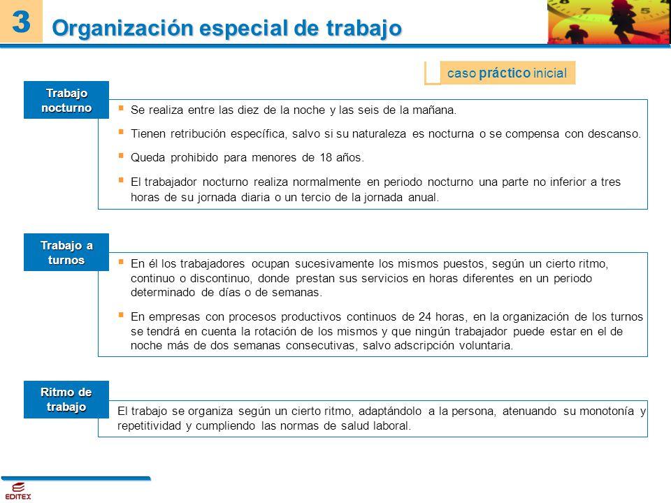 Organización especial de trabajo