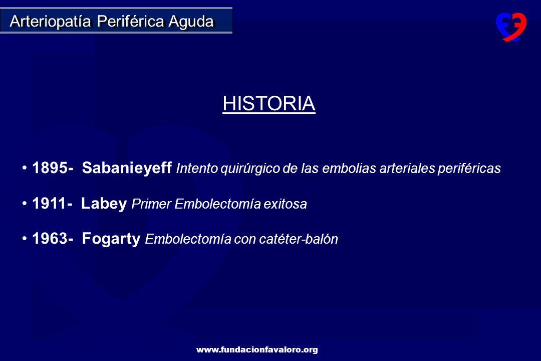HISTORIA Arteriopatía Periférica Aguda
